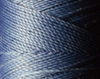 Duck egg blue. Waxed polyester thread spool. Linhasita. Art supply. 172 m / 188 yds, 1 mm thick (227)