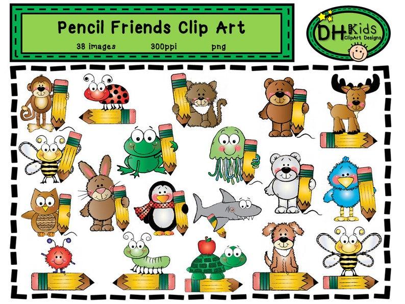 Bleistift Freunde Clipart Klassenzimmer Clipart Lehrer Etsy