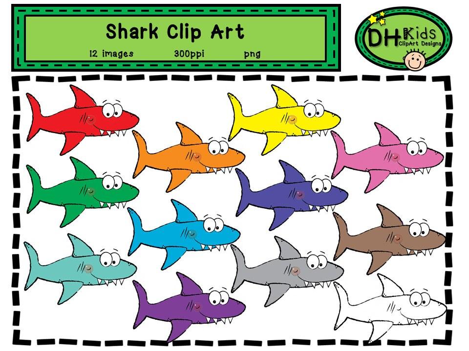 Hai-ClipArt Hai Clipart Ozean Clipart Fisch-Clipart Hai   Etsy