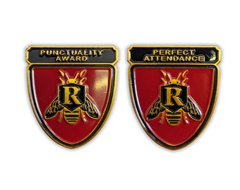 Rushmore inspired Enamel Pins! Punctuality Award & Perfect Attendance, Max Fischer, Bill Murray, Wes Anderson, school award FREE shipping