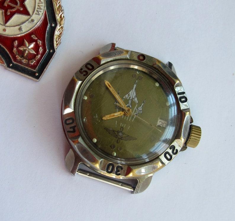 36af728852e6 Soviet Military Watch Vostok Komandirskie Russian Mens