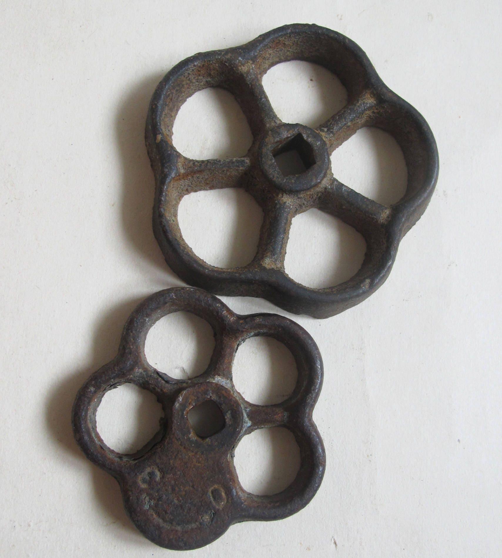 Antique Industrial 2 Valves Handles Cast Iron Soviet Faucet | Etsy