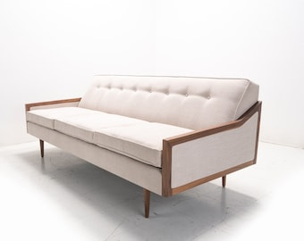 Mid Century Modern Danish Sofa Daybed  Knoll Style