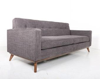 Mid Century Modern Danish Sofa  Knoll Style