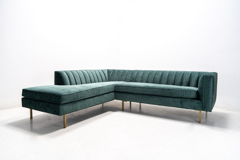859787bbb46b0 Modern Channel Tufted Back Sectional Chaise