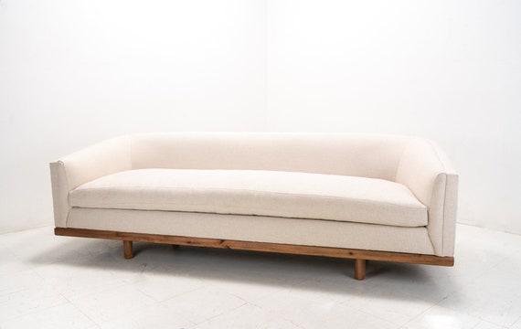 Mid Century Modern Curved Sofa