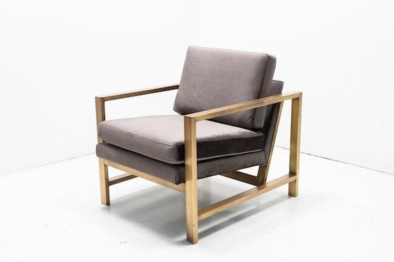 Tremendous Modern Mid Century Metal Framed Scandinavian Arm Chair Pabps2019 Chair Design Images Pabps2019Com