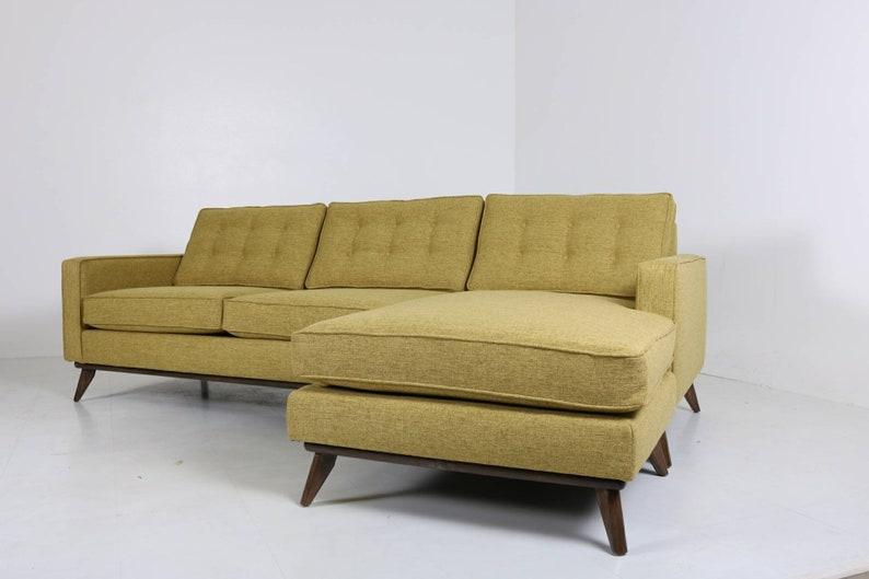 mid century modern danish sofa sectional chaise reversible to etsy rh etsy com modern danish furniture los angeles modern danish furniture aps