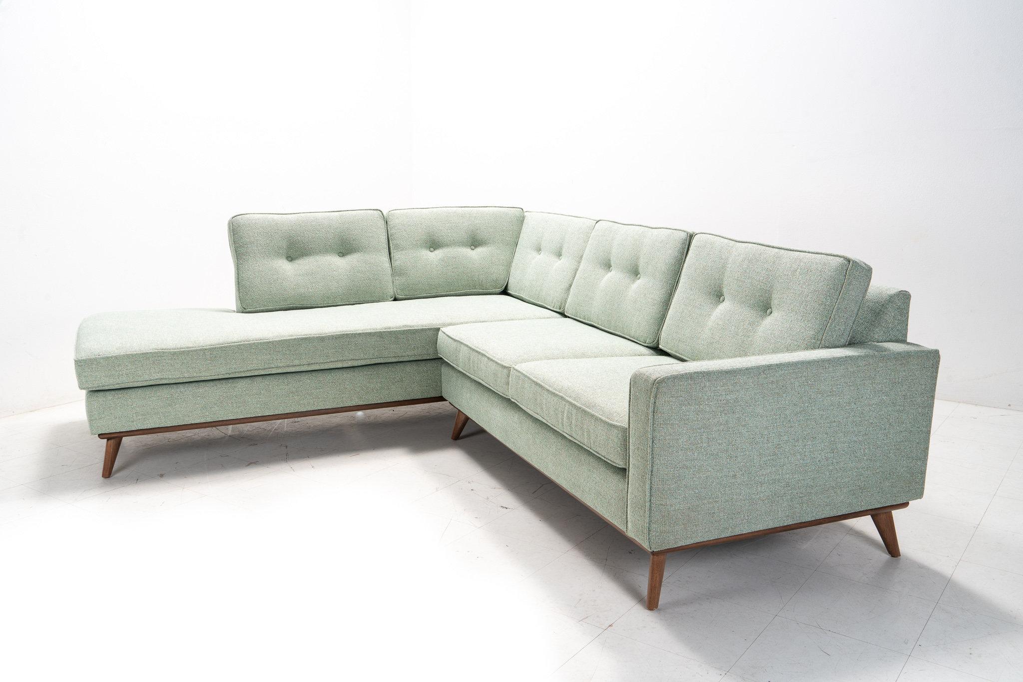 Mid Century Danish Modern Sectional Chaise Sofa | Etsy