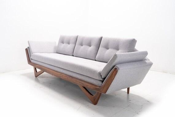 Fabulous Mid Century Solid Walnuttrim Gondola Sofa Adrian Pearsall Style Creativecarmelina Interior Chair Design Creativecarmelinacom