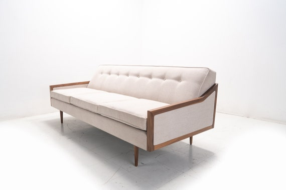 Mid Century Modern Danish Sofa Daybed- Knoll style