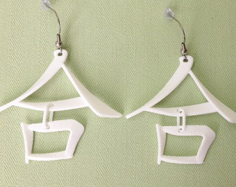 10. COLLABORATION/He - 3D Printed Chinese character earrings