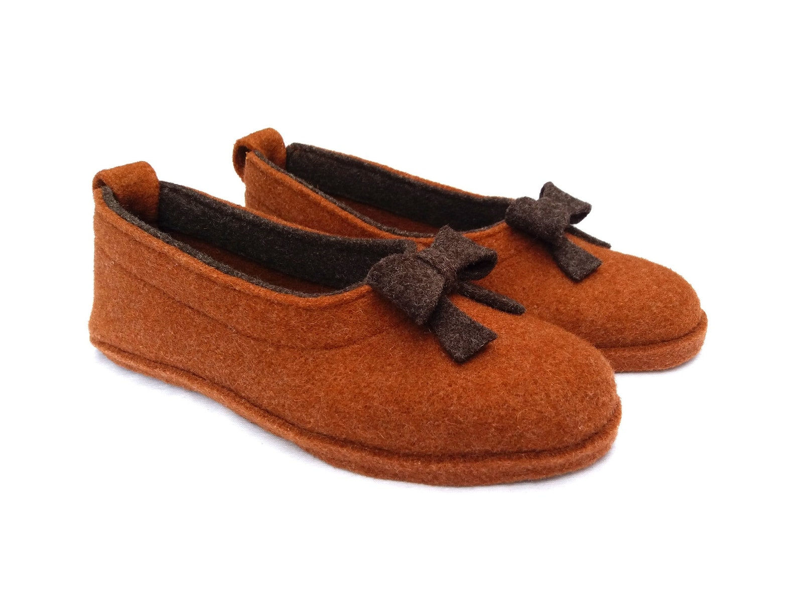 wool felt warm ballet flat slippers ortica