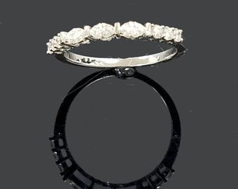 Marquise and Round Diamond Stack Ring with FREE SHIPPING!
