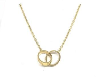 "Cartier ""Love Necklace"" 18ky"