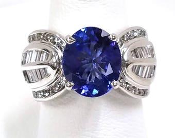 Gorgeous 3.37ct Tanzanite and Diamond Ring  FREE SHIPPING!