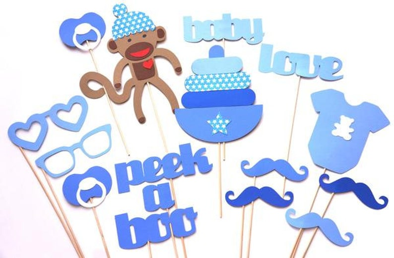 Baby Shower Props Baby Boy Props Party Baby Party Photo Etsy