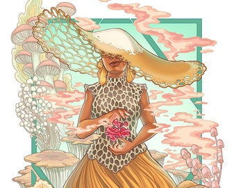 Sporecrown Queen Art Print