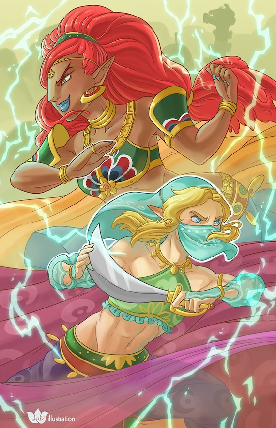 Urbosa And Link Breath Of The Wild 13 X 19 Print