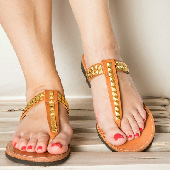s en cuir, or boucles d'oreilles de de de couleur sandales sandales, sandales grecques, chaussures, chaussures de femme, en cuir d'été 8552a0