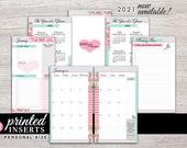 Printed Planner Inserts - Monthly Inserts - Filofax Personal - Kikki K Medium - LV MM - Design: Flirty Girl