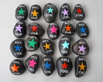 Set of 20 Rock Star Themed Party Favors Rock and Roll Music Glam Rocker Colorful