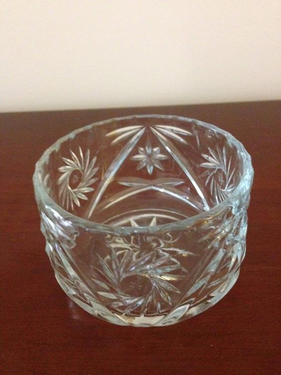 Nut Bowl Candy Bowl Small Vintage Crystal Bowl Tea Light Bowl