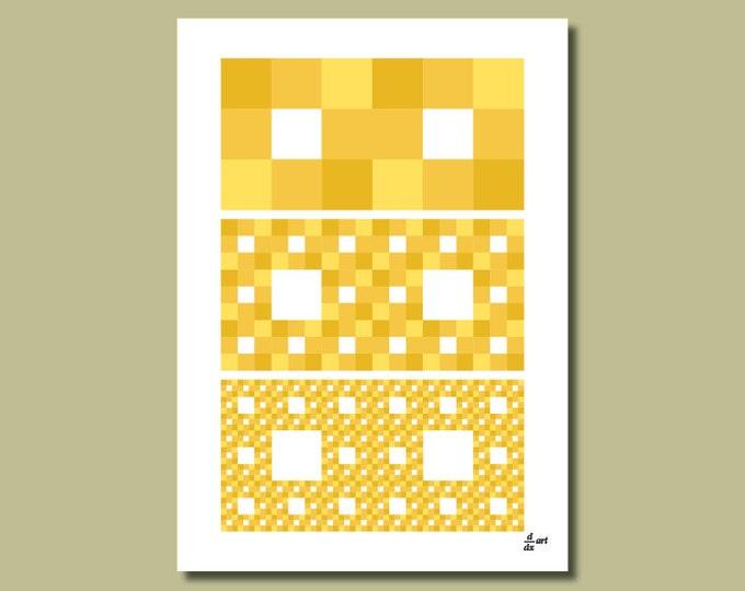 Fractal rectangles 06 [A4 size art print]