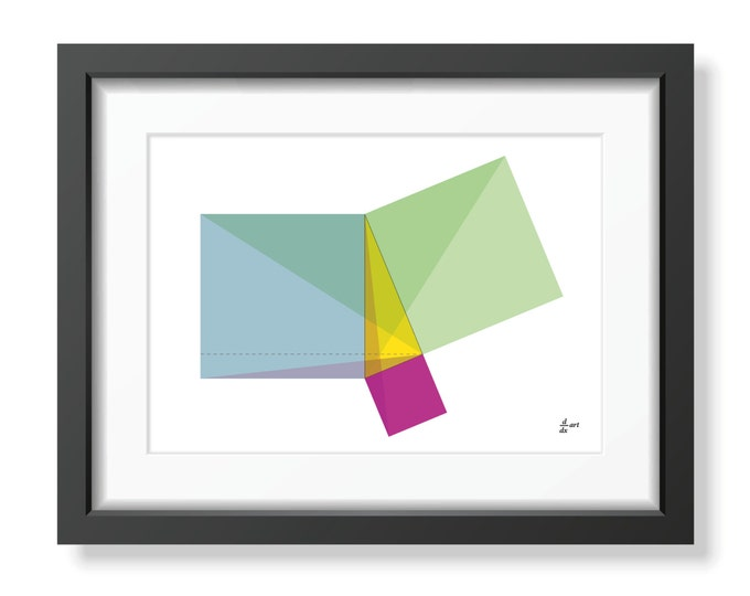 Pythagoras 05 [mathematical abstract art print, unframed] A4/A3 sizes