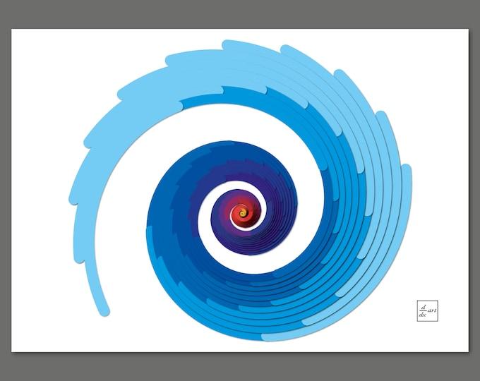 Icebird spiral [A4 size]