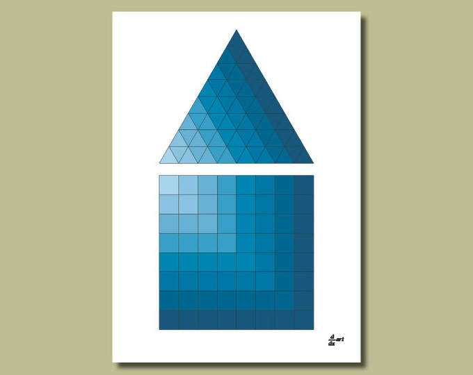 Triangle and square 09 [A4 size art print]