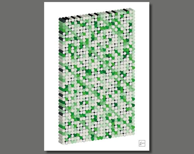 Primes 1000 3D 01 [A4 size art print]