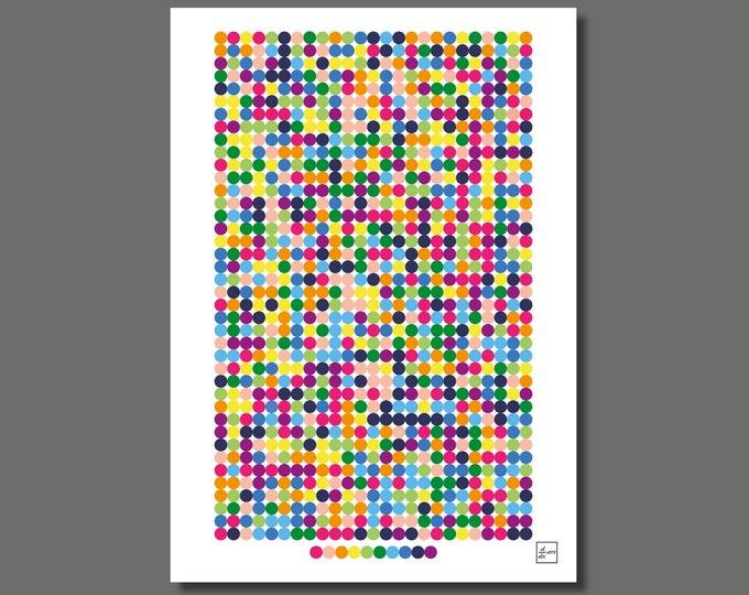 Pi 1000 01 [A4 size art print]