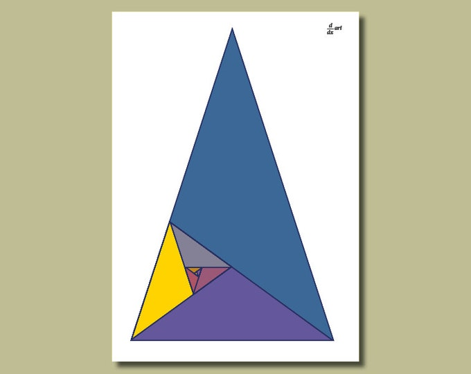 Fibonacci triangles 04 [A4 size art print]