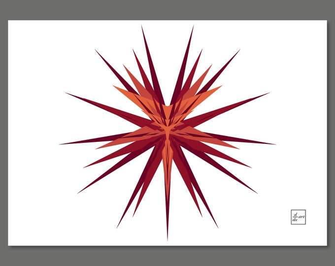 Fibonacci star 03 [A4 size]