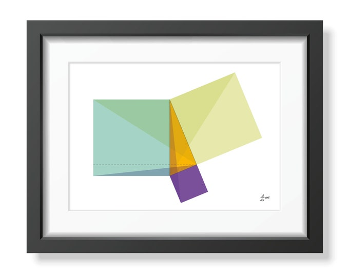 Pythagoras 01 [mathematical abstract art print, unframed] A4/A3 sizes