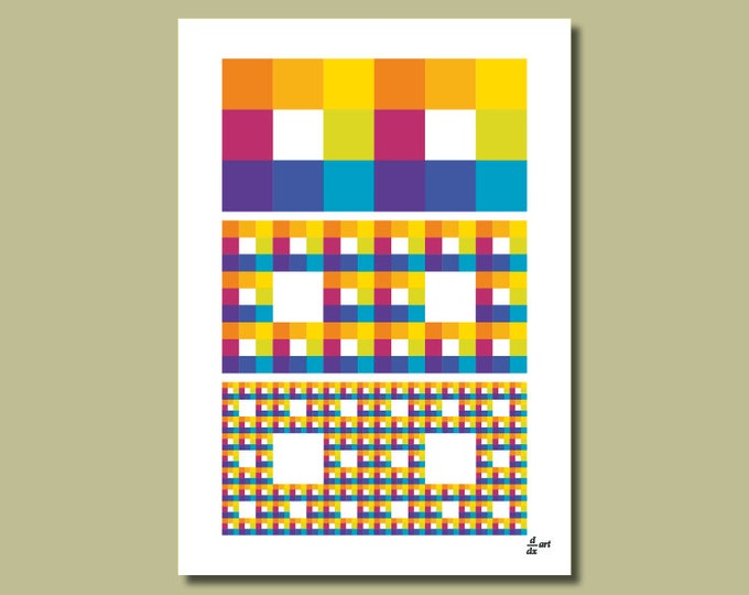 Fractal rectangles 09 [A4 size art print]