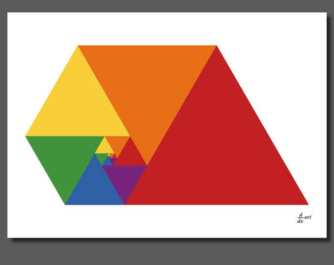 Padovan Triangles 10 [A4 size art print]