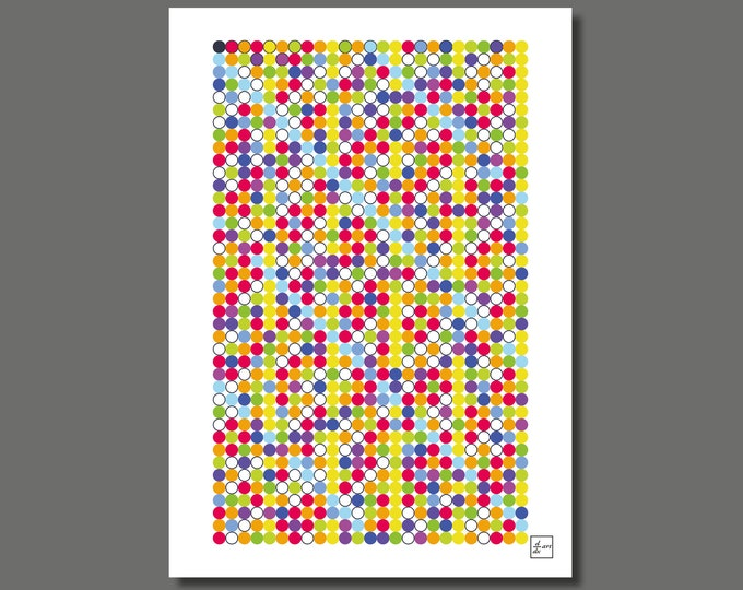 Primes 1000 05 [A4 size art print]