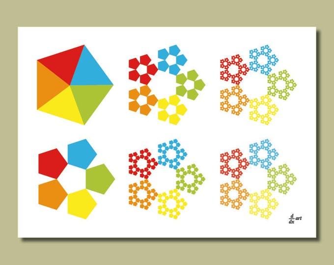 Sierpinski pentagons 01 [A4 size art print]