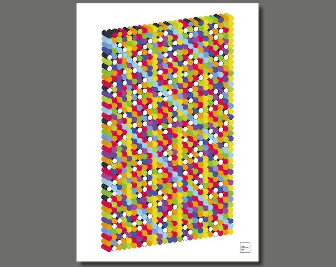 Primes 1000 3D 05 [A4 size art print]