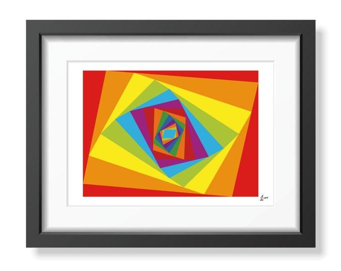 Ladybird festival [mathematical abstract art print, unframed]