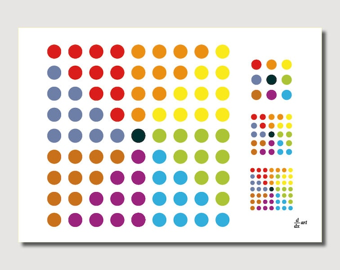 8n+1 [mathematical abstract art print, unframed] A4/A3 sizes