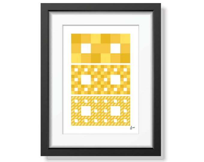 Fractal rectangles 06 [mathematical abstract art print, unframed] A4/A3 sizes