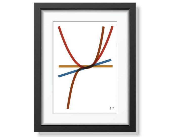 Derivatives 06 [mathematical abstract art print, unframed] A4/A3 sizes