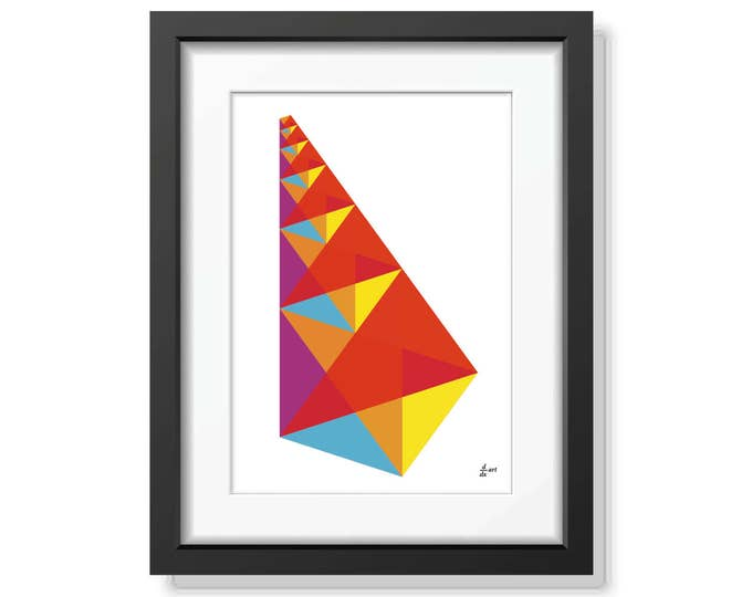 The Lute of Pythagoras 01 [mathematical abstract art print, unframed] A4/A3 sizes