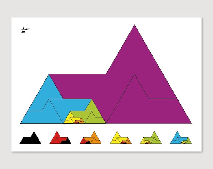Sphinx 01 [mathematical abstract art print, unframed] A4/A3 sizes
