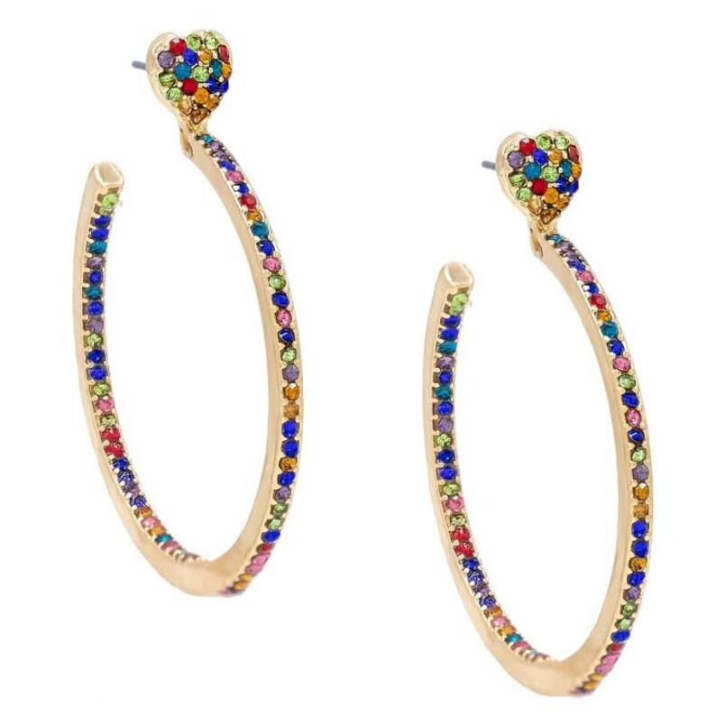 f466e82c476128 Heart earrings heart hoop earrings earrings gold hoop | Etsy