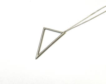 Sterling Silver Large Triangle Pendant