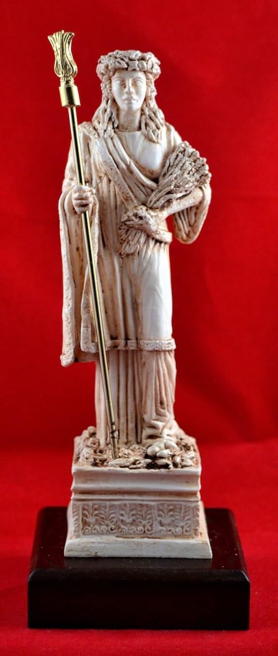 Demeter greek statue fertility harvest goddess NEW Free | Etsy